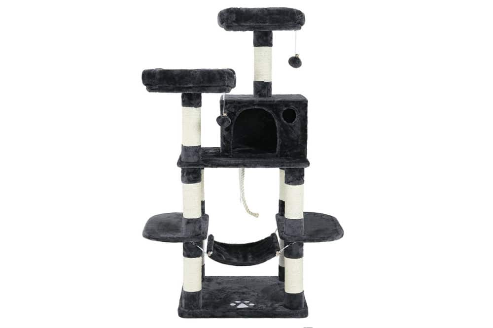 SONGMICS Cat Tree Condo with Scratching Posts Review